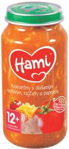 Hami příkrm Makaróny s dušeným vepřovým, rajčaty a paprikou