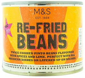 Marks & Spencer Směs předvařených a předsmažených fazolí pinto a cibule s limetkovou šťávou a kořením
