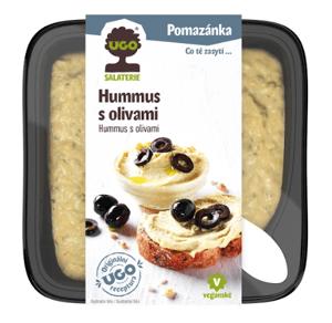 Ugo Hummus natural s černými olivami