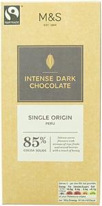 Marks & Spencer Extra hořká čokoláda