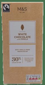 Marks & Spencer Bílá čokoláda s vanilkou