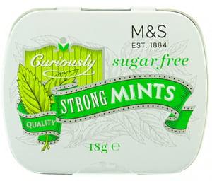 Marks & Spencer Extra silné mentolové bonbóny bez cukru se sladidly