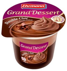 Ehrmann Grand Dessert puding dezert se šlehačkou Double Choc