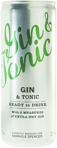 Marks & Spencer Tonic a extra suchý gin