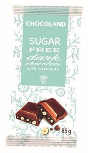 Chocoland Sugar Free Hořká čokoláda s oříšky