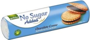 Gullón Sandwich sušenky plněné čokoládovým krémem, bez přidaného cukru, se sladidly