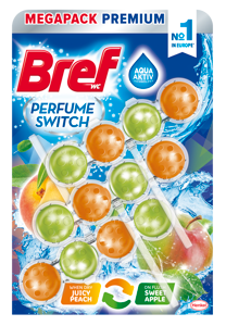 Bref Perfume Switch Peach-Red Apple WC blok 3x50g
