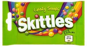 Skittles Crazy Sours ovocné žvýkací bonbóny