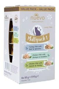 Nuevo vaničky pro kočky Adult Multipack I. 6x85g