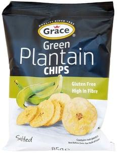 Grace bezlepkové chipsy ze zelených banánů plantain solené