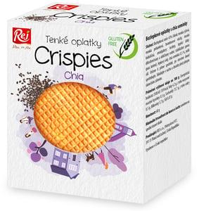 REJ Crispies oplatky bezlepkové s chia