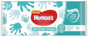 Huggies All over the clean dětské vlhčené ubrousky (56ks)
