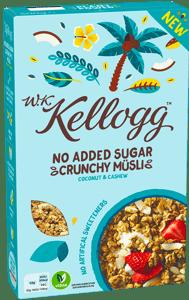 Kellogg's Crunchy müsli Kokos & kešu