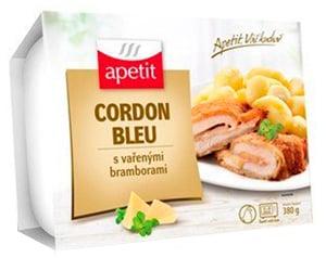 Apetit Cordon bleu, vařené brambory