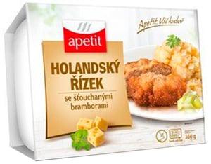 Apetit Holandský řízek, šťouchané brambory