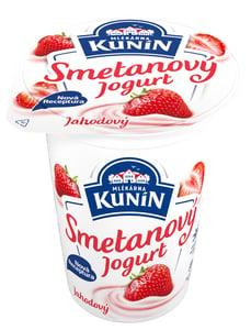 Mlékárna Kunín Jogurt smetanový jahodový