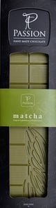 Passion Chocolate Bílá čokoláda se zeleným čajem Matcha