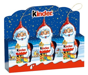 Kinder Mikuláš čokoládový malý, 3ks