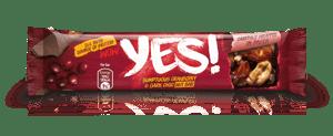 YES! tyčinka s ořechy, brusinkami v hořké čokoládě