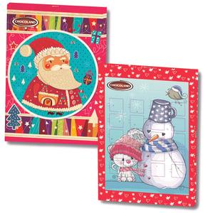 Chocoland adventní kalendář Sněhulák a kočička/Veselý Santa
