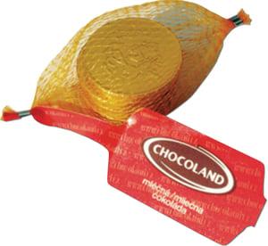 Chocoland Čokoládové mince zlaté v síťce