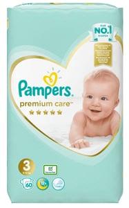 Pampers Premium Care Midi 5-9kg (velikost 3) 60ks