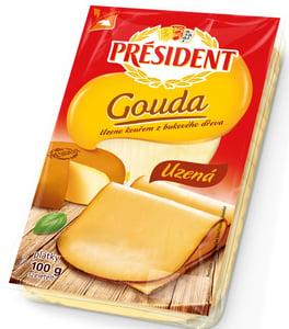 Président Gouda uzené plátky