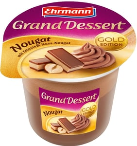 Ehrmann Grand Dessert puding dezert se šlehačkou Nugát