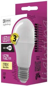 EMOS LED žárovka Classic A60 14W (náhrada 100W), E27, teplá bílá