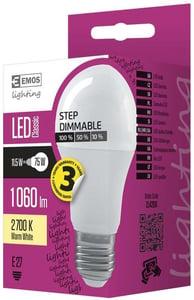 EMOS LED žárovka Classic A60 stmívatelná 11,5W (náhrada 75W), E27, teplá bílá