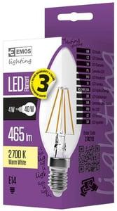 EMOS LED žárovka Filament svíčka 4W (náhrada 40W), E14, teplá bílá