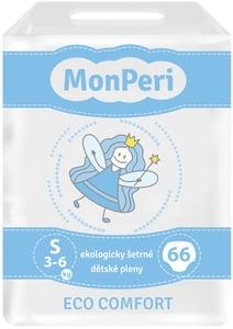 MonPeri Eco Comfort Ekologicky šetrné jednorázové dětské plenky S 3-6 kg
