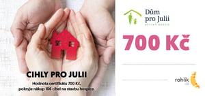 Pomáhejte s Rohlíkem – Dům pro Julii, z.ú. - Certifikát v hodnotě 700 Kč