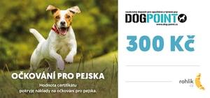Pomáhejte s Rohlíkem –  Dogpoint o.p.s. - Certifikát v hodnotě 300 Kč