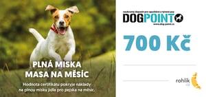 Pomáhejte s Rohlíkem – Dogpoint o.p.s. - Certifikát v hodnotě 700 Kč