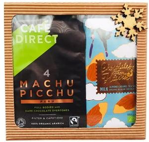 Dárková krabička BIO Machu Picchu mletá káva + BIO mléčná čokoláda