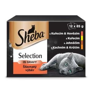 Sheba Selection kapsičky pro dospělé kočky Šťavnatý výběr ve šťávě 12 × 85g