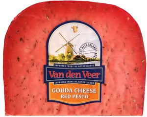 Van den Veer Gouda s červeným pestem výkroj