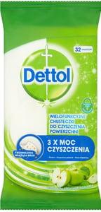Dettol Antibakteriální ubrousky na povrchy Zelené jablko 32ks