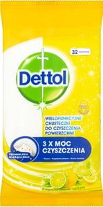 Dettol Citron a Limeta antibakteriální ubrousky na povrchy 32ks