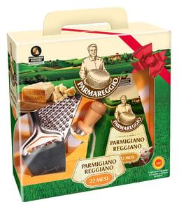 Parmigiano Reggiano parmezán CHOP 500g zrání 22 měsíců + kuchyňské doplňky