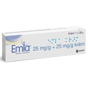 EMLA 25MG/G+25MG/G krém 1X30G