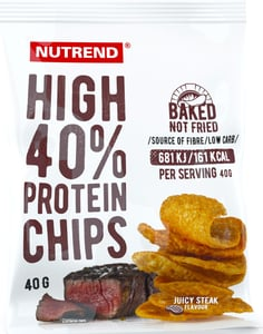 Nutrend HIGH PROTEIN CHIPS, juicy steak