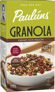 Paulúns Granola s kakaem a malinami