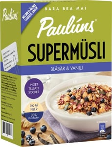 Paulúns SuperMüsli s borůvkami a vanilkou