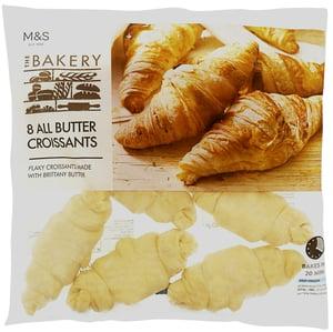 Marks & Spencer Francouzské croissanty z listového těsta k dopečení (8ks),