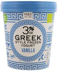 Marks & Spencer Mražený nízkotučný jogurt řeckého typu s vanilkou