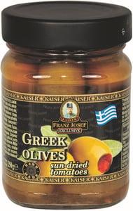 Franz Josef Kaiser Olivy zelené řecké plněné sušenými rajčaty
