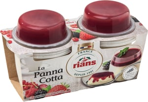 Rians La Panna Cotta Red Fruit 2x120 g