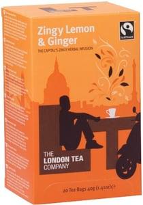 The London Tea Company Fairtrade bylinný čaj citron & zázvor